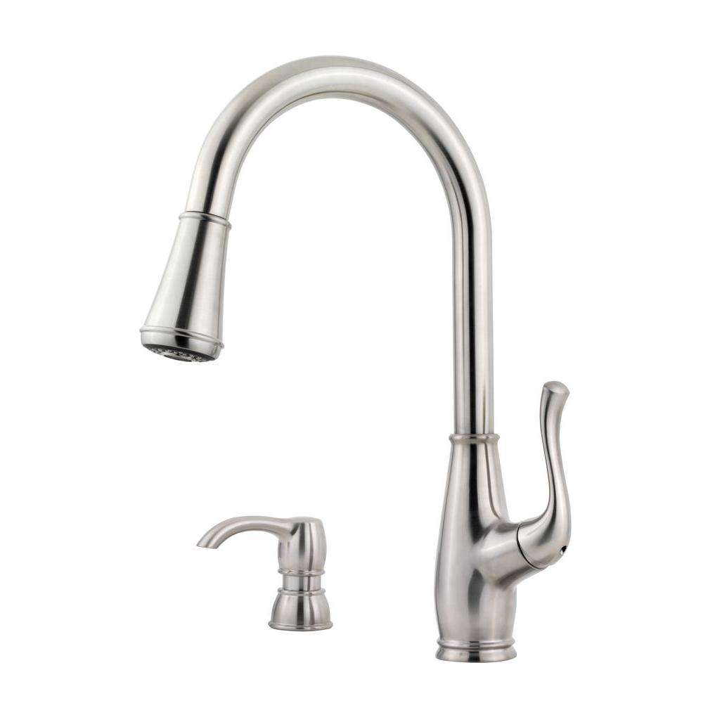 Pfister Sedgwick Single Handle Pull Down Sprayer Kitchen Faucet With