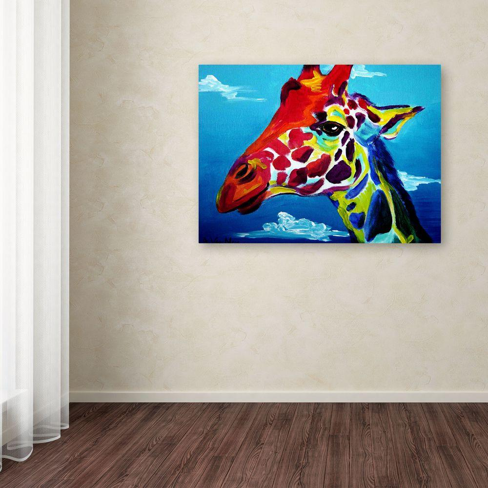 Trademark Fine Art 18 In X 24 Giraffe By Dawgart Printed