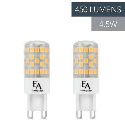 50-Watt Equivalent G9 Base Dimmable 3000K LED Light Bulb Soft White (2-Pack)