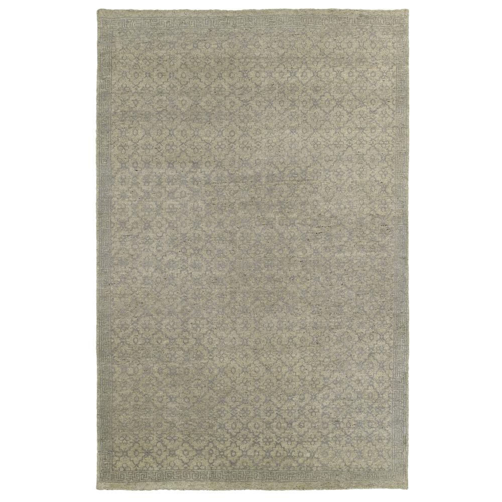 LR Resources Oushak Gray 5 ft. 6 in. x 8 ft. 6 in. Plush ...