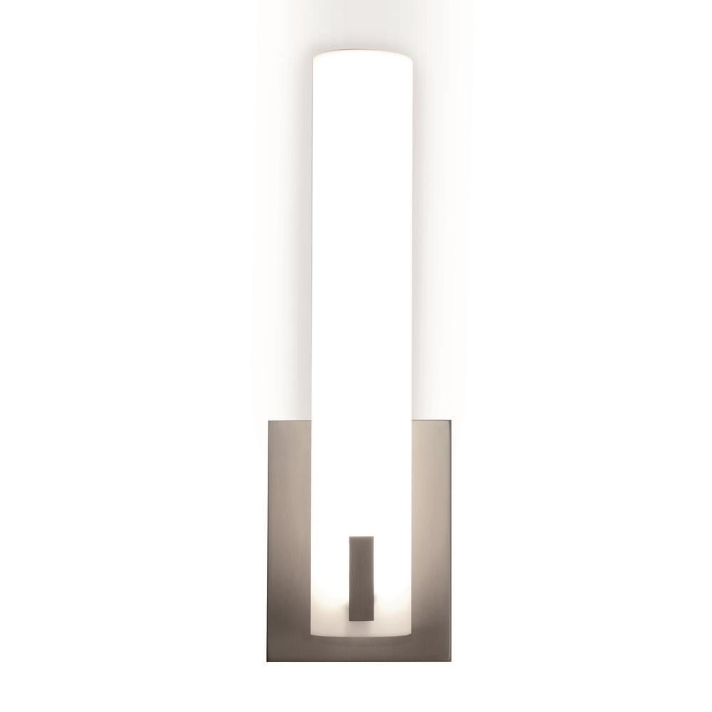 Bowen 15.5-Watt Satin Nickel Integrated LED Bath Light