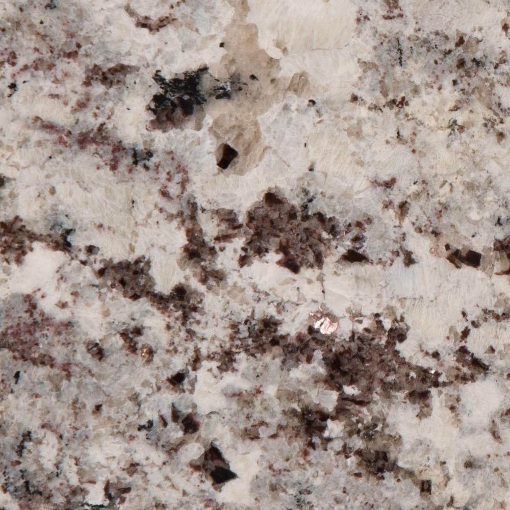 3 in. x 3 in. Granite Countertop Sample in Alaska White