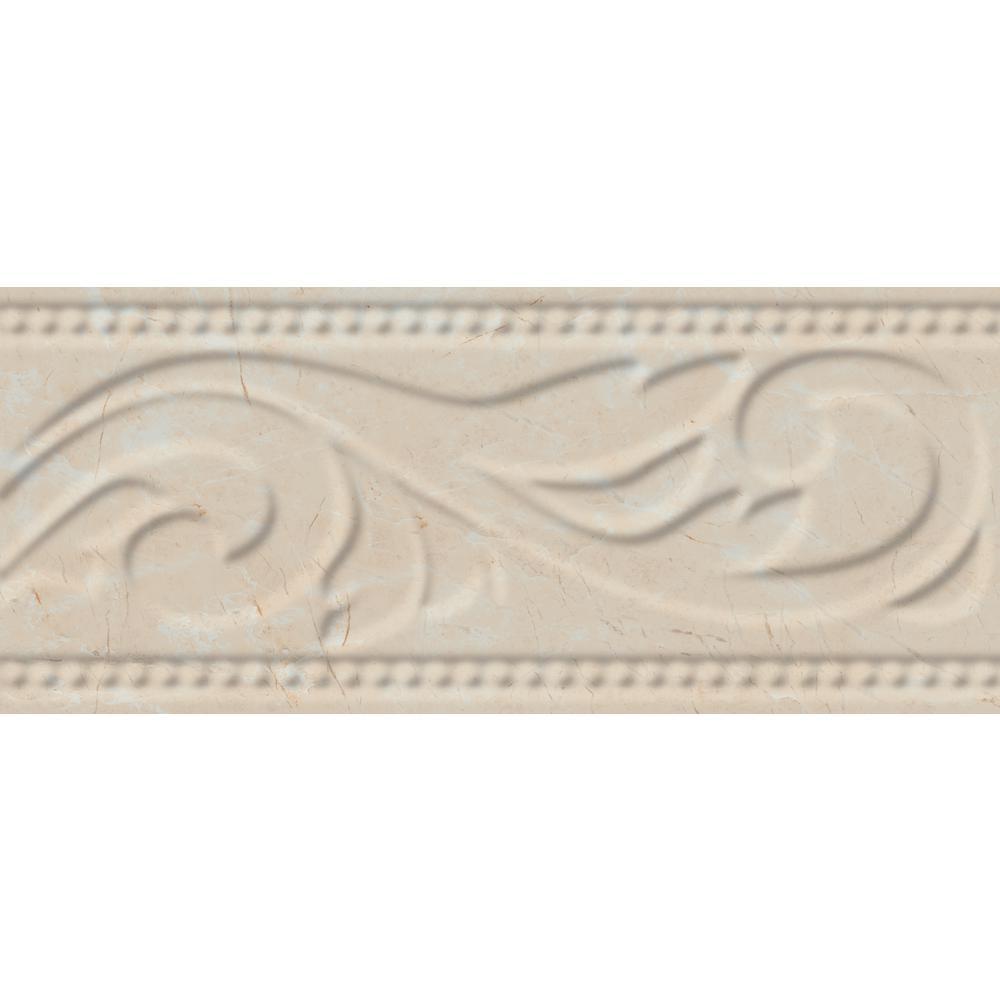 Eliane Delray L 1 Beige 3 In X 8 Ceramic Listello Wall Tile