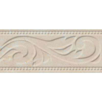 Delray L-1 Beige 3 in. x 8 in. Ceramic Listello Wall Tile