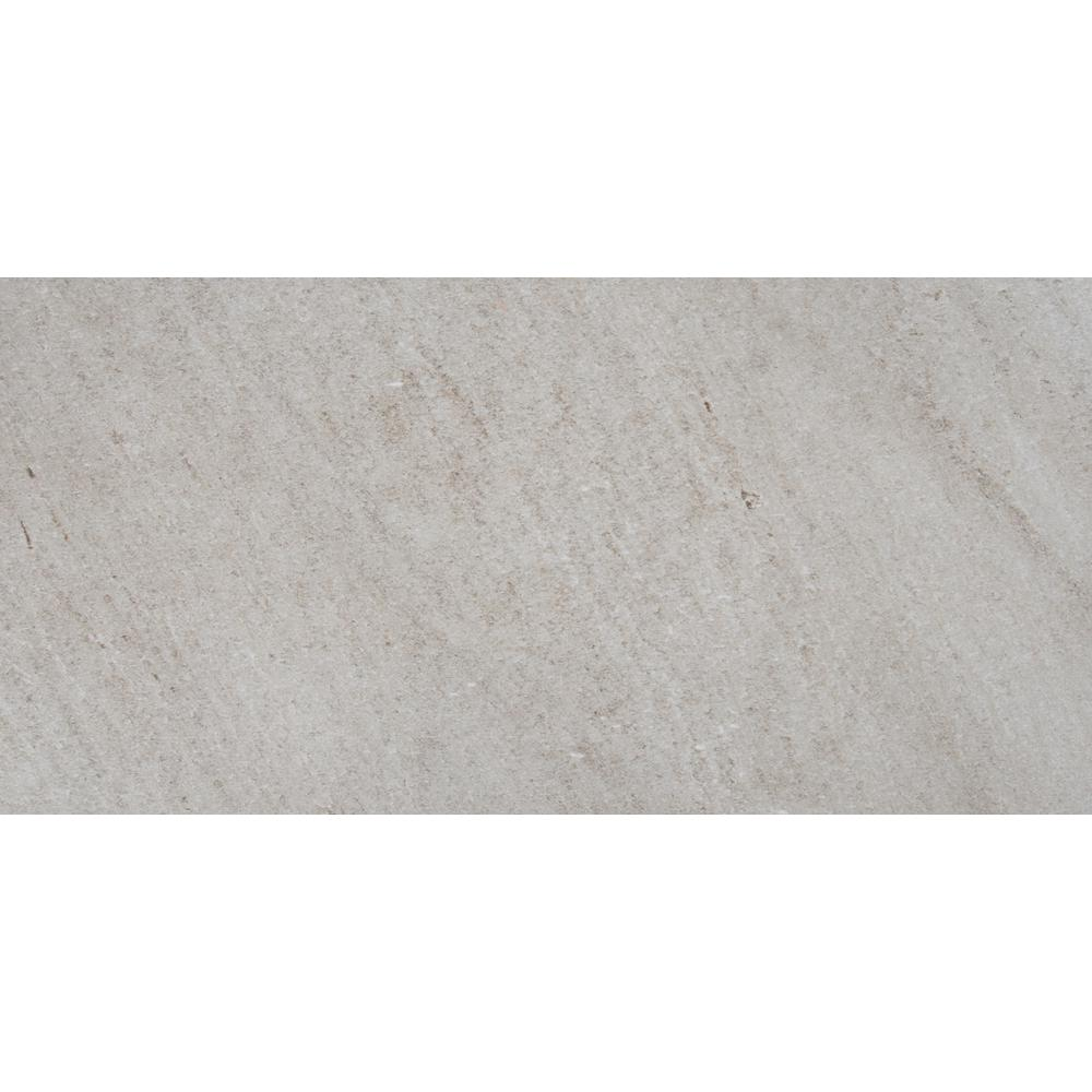 Brixstyle Gris 12 in. x 24 in. Glazed Porcelain Floor and
