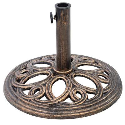17-3/4 in. Round Patio Umbrella Base Stand for Patio Outdoors in Bronze