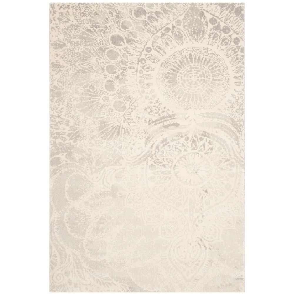 Safavieh Porcello Light Grey Ivory 6 Ft 7 In X 9 Ft 6