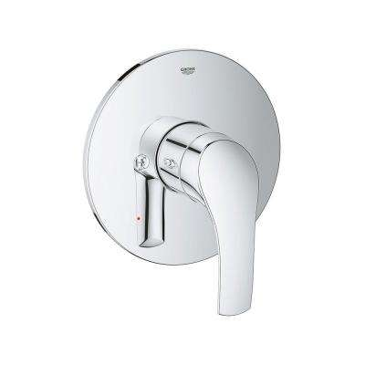 Eurosmart New Single Handle Valve Trim Kit in StarLight Chrome (Valve Sold Separately)