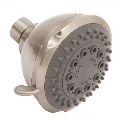 5-Spray 3.5 in. Fixed Shower Head in Brushed Nickel