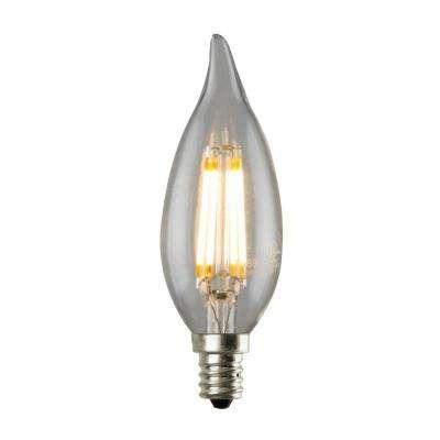 3.5W Equivalent 2,700K CA12 Dimmable LED Flame Tip Filament Bulb