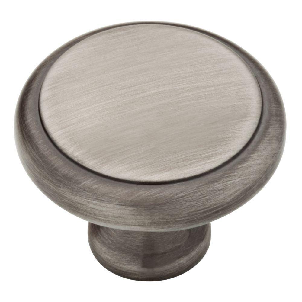 Perimeter 1-3/16 in. (30mm) Heirloom Silver Round Cabinet Knob