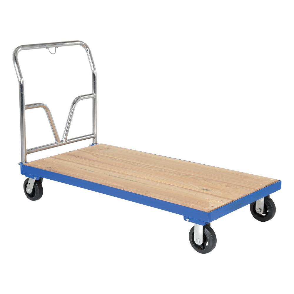 1,600 lb. Capacity 24 in. x 48 in. Hardwood Platform Cart