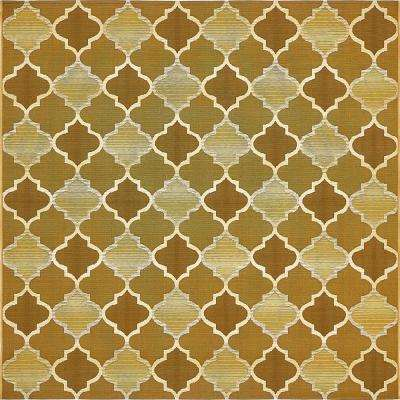 Outdoor Gold 6' x 6' Square Indoor/Outdoor Rug