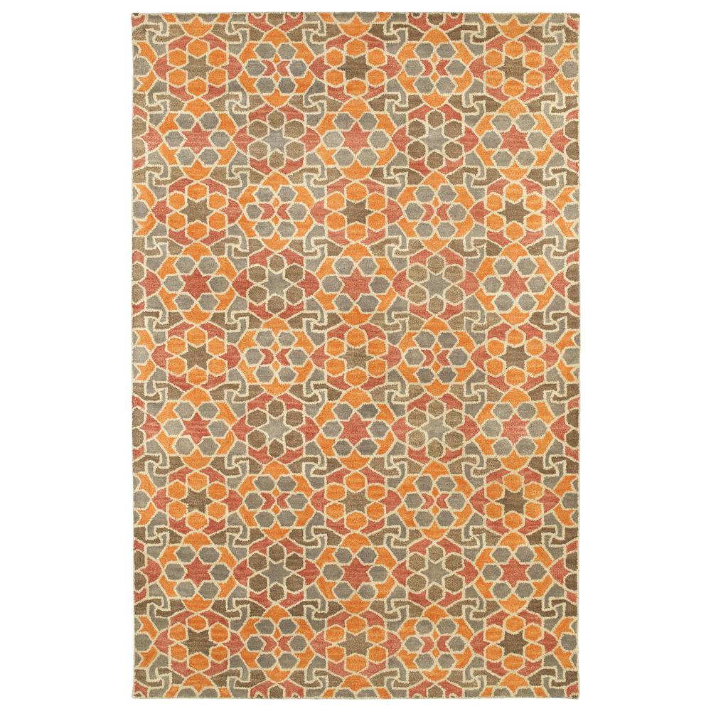 Art Tiles Orange 10 ft. x 13 ft. Area Rug