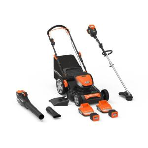 60-Volt Cordless Lithium-ion Mower/Trimmer/Blower 4.0 Ah Battery, 2.5 Ah Battery and Two Chargers Combo Kit (7-Tool)