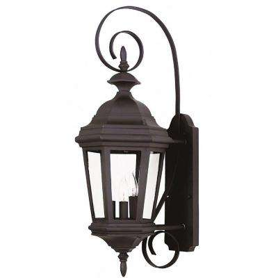 Estate 3-Light Black Medium Wall Lantern