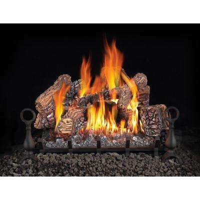30 in. Vented Natural Gas Log Set with Electronic Ignition