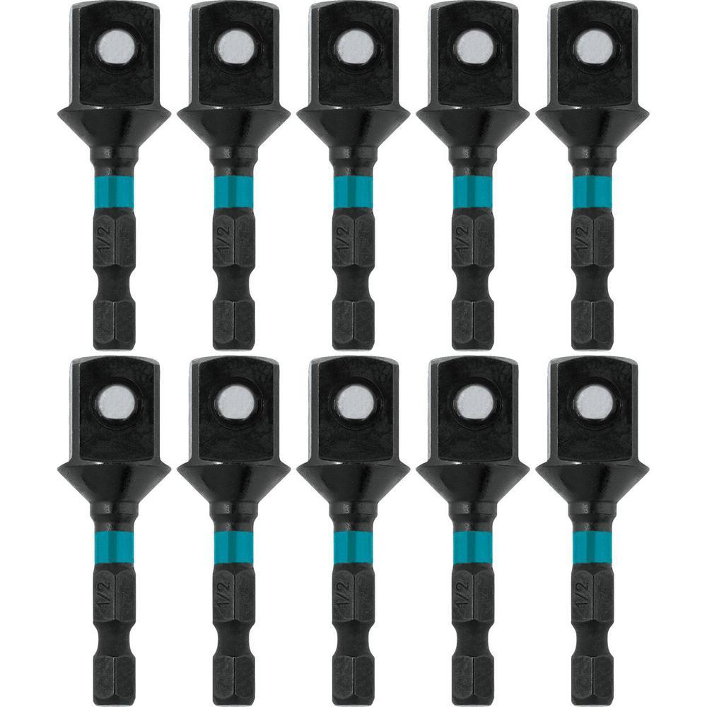 ImpactX 1/2 in. x 2 in. Modified S2 Steel Socket Adapter (10-Pack)