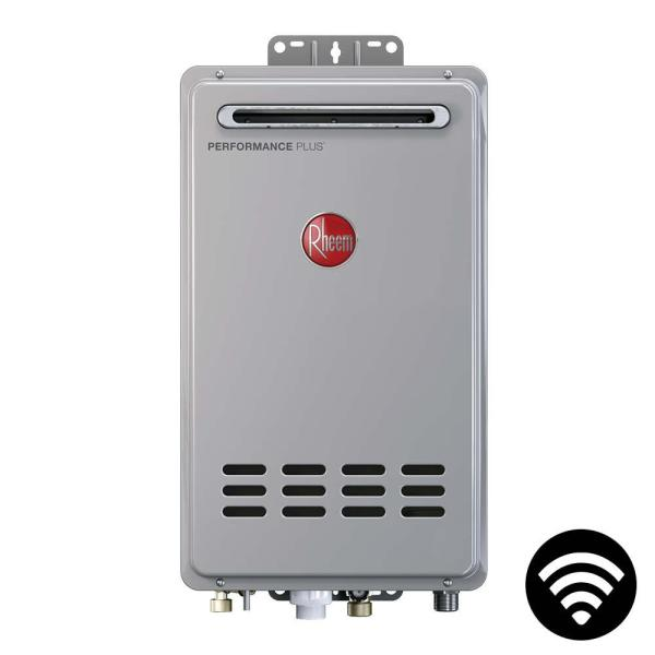 Rheem Performance Plus 8.4 GPM Liquid Propane  Mid Efficiency Outdoor Smart Tankless Water Heater