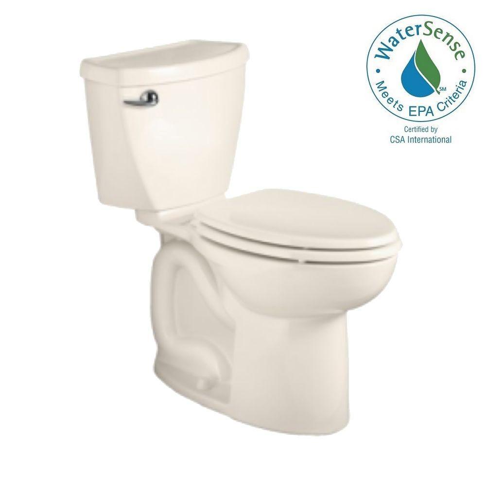 American Standard Cadet 3 Powerwash Chair Height 10 in. Rough 2-piece 1.28 GPF Single Flush Elongated Toilet in Linen