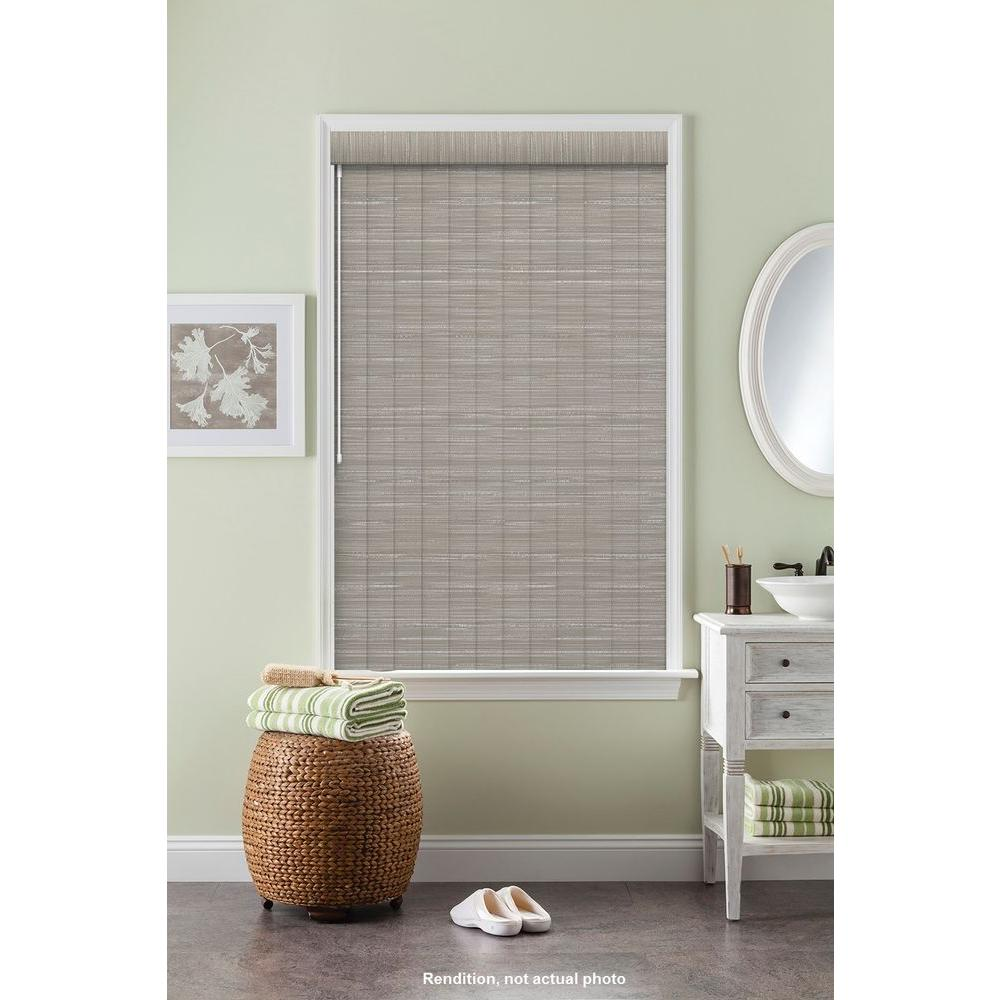 Bali Cut-to-Size 3.5 in. W x 84 in. L Sula Dove Gray 3 Vertical Blind/Louver Set