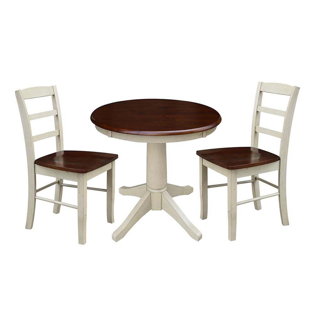 International Concepts Olivia 3-Piece Almond and Espresso...