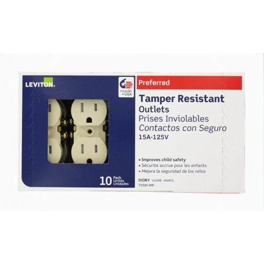 Duplex Receptacle Pack of 31 pcs 20Amp 125V Ivory T and W Resist Morris 82505