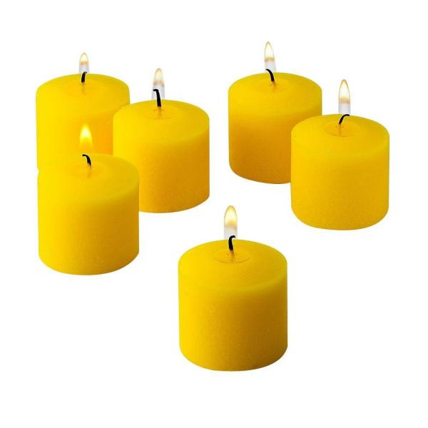 10 Hour Yellow Unscented Votive Candle (Set of 72)