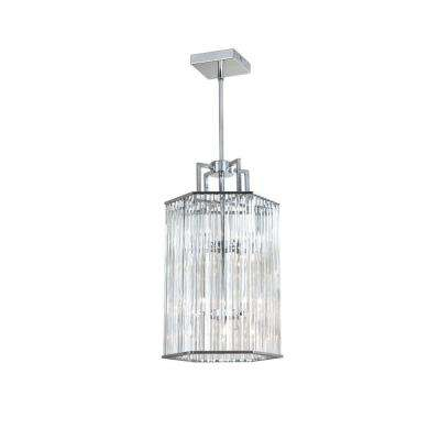 Aruba 6-Light Polished Chrome Crystal Foyer Lantern