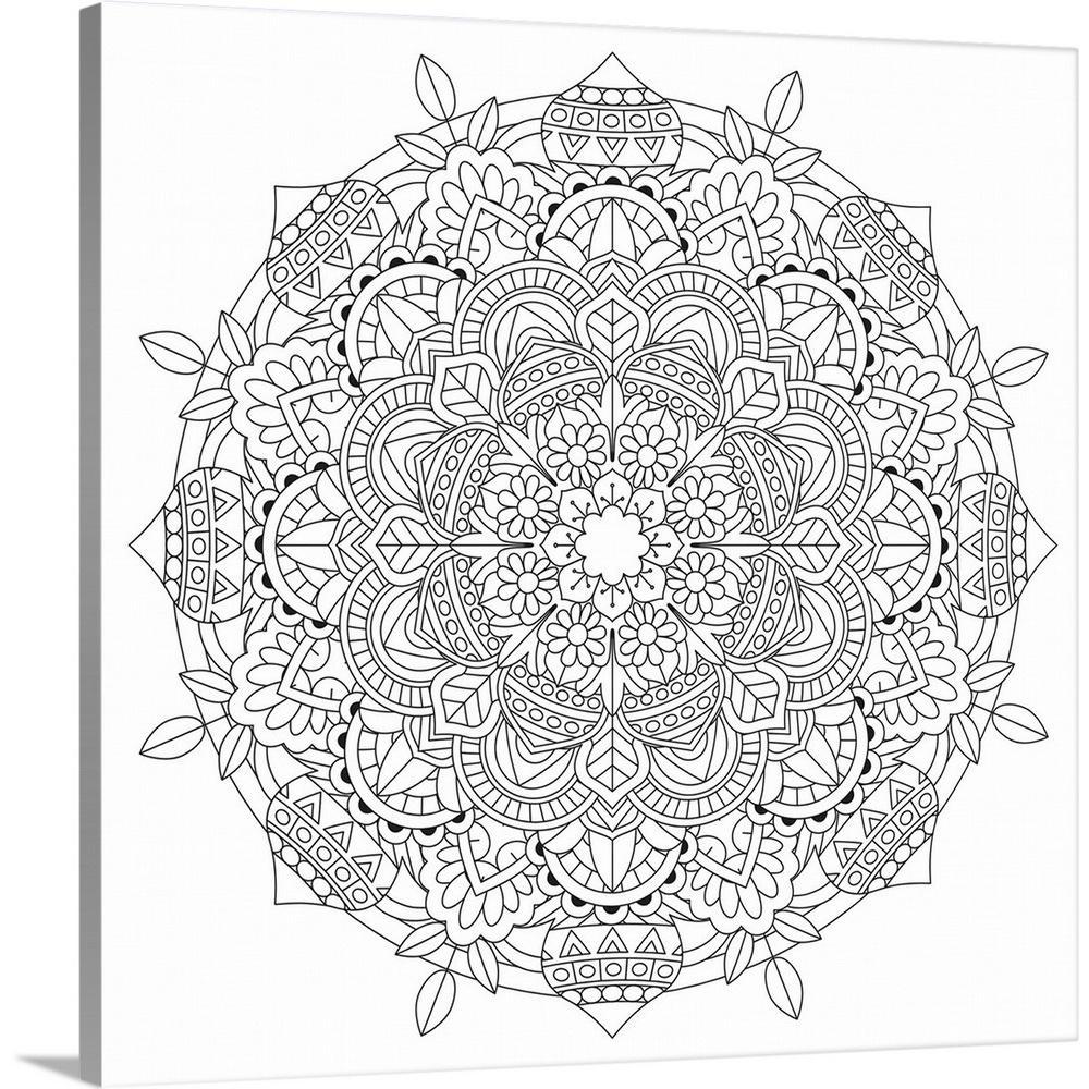 Greatbigcanvas Coloring Mandala Pretty 23 By Cynthia Thomas