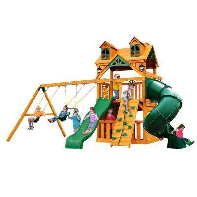 Malibu Extreme Clubhouse with Amber Posts Cedar Playset