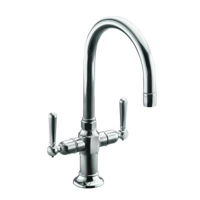 HiRise 2-Handle Bar Faucet in Polished Stainless Steel