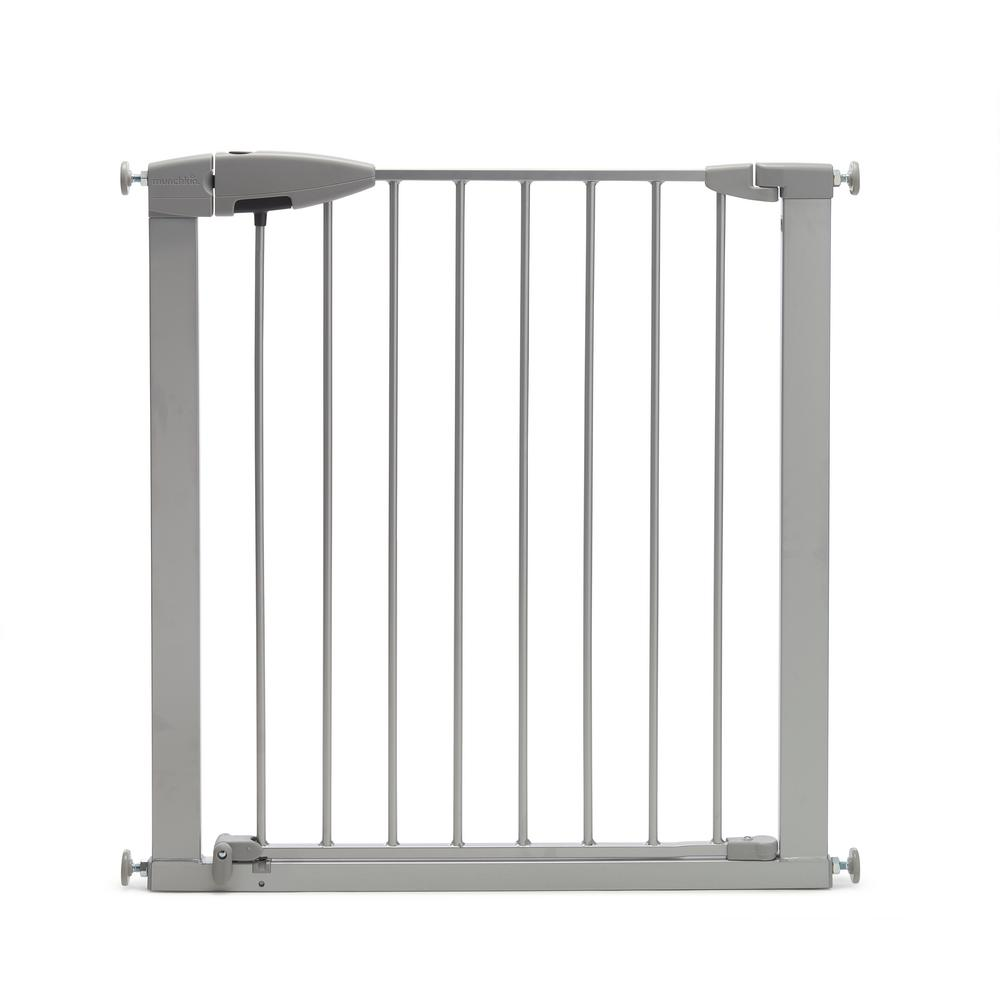 Munchkin 29.5 in. Easy Close Metal Baby Gate, Silver
