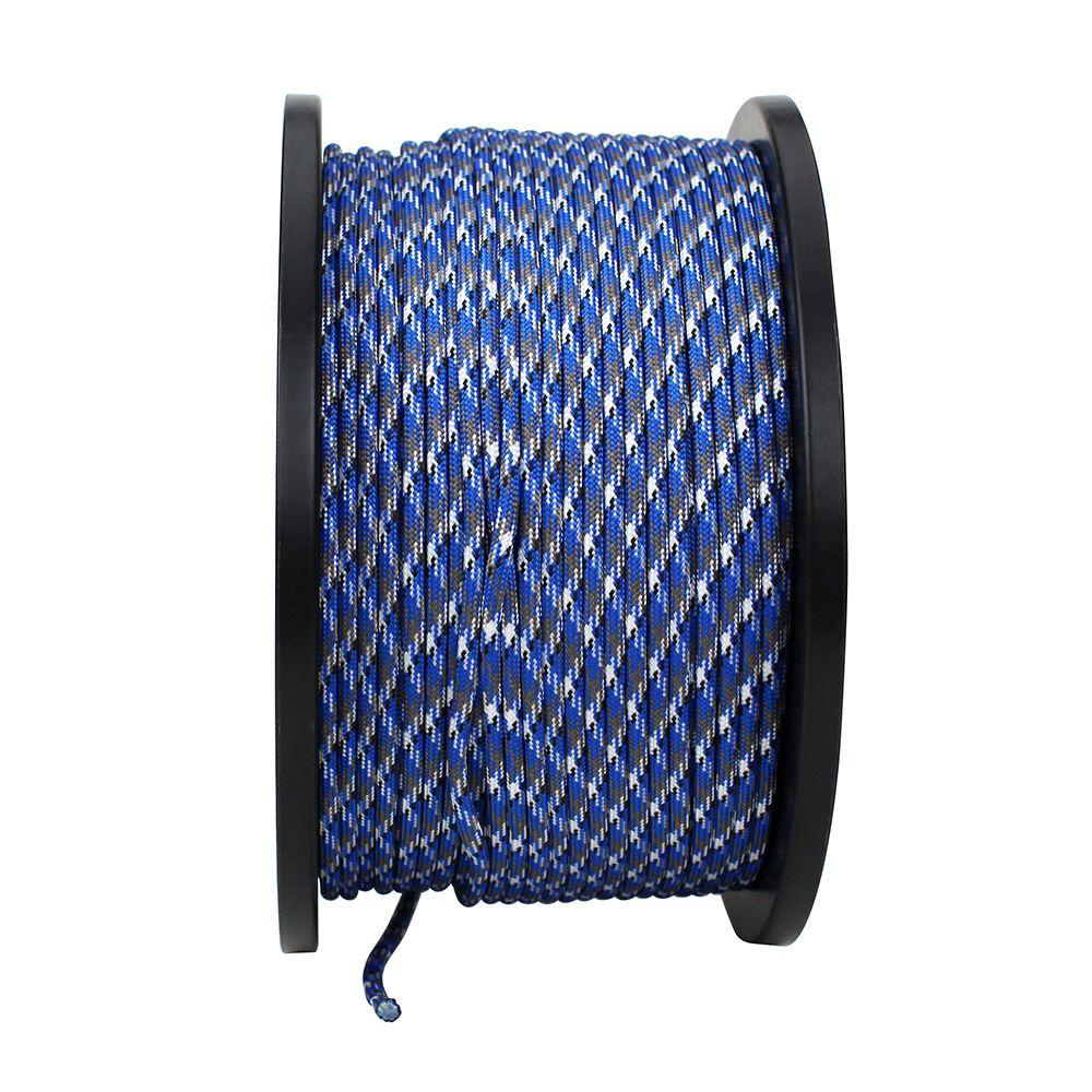 Everbilt 1/8 in. x 1 ft. Paracord, Blue and Gray Camouflage
