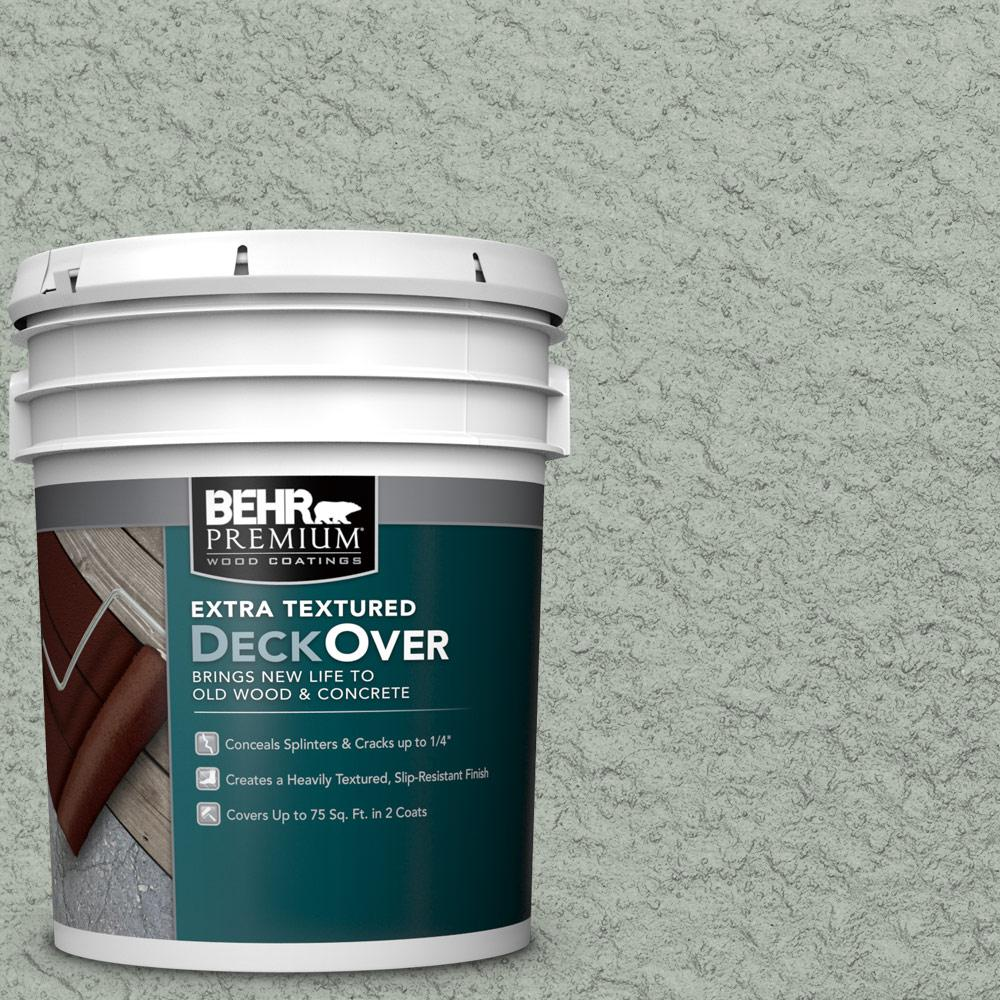 BEHR Premium Extra Textured DeckOver 5 gal. #SC-149 Light Lead Extra Textured Solid Color Exterior Wood and Concrete Coating