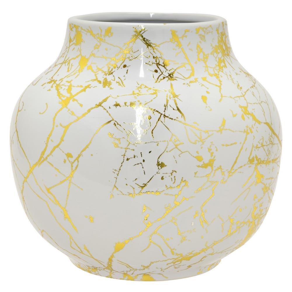 8.5 in. White Ceramic Vase