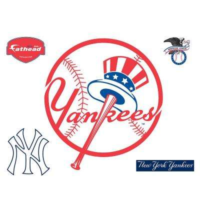 40 in. H x 36 in. W New York Yankees Circle Logo Wall Mural