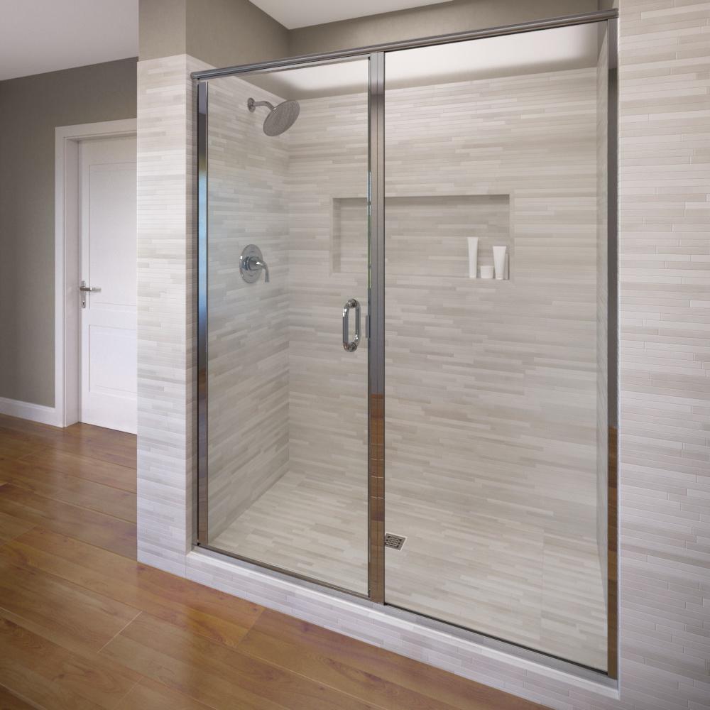 Basco infinity 59 in x 72 1 8 in semi frameless hinged - Wd40 on glass shower doors ...