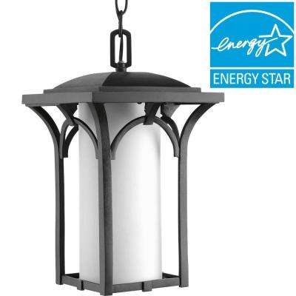 Promenade Collection 1-Light Black Outdoor Hanging Lantern