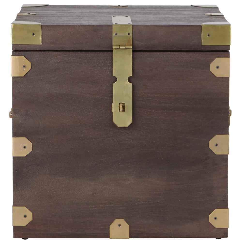 Home Decorators Collection Langston Dark Caffe Trunk End Table
