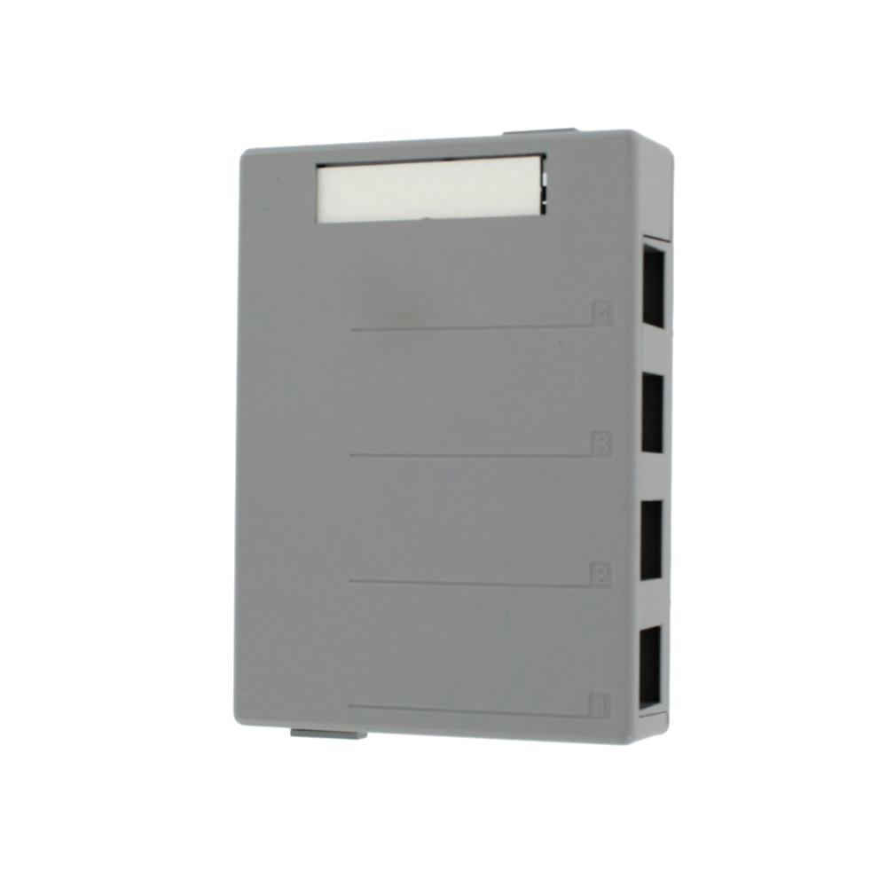 4-Port QuickPort Surface Mount Box, Gray