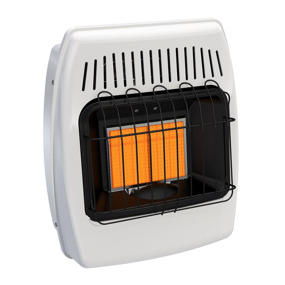 Dyna Glo 12,000 BTU Infrared Vent Free LP Wall Heater, White