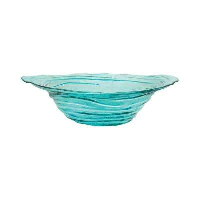 Vortizan 20 in. x 17 in. Decorative Bowl in Basic Torquise