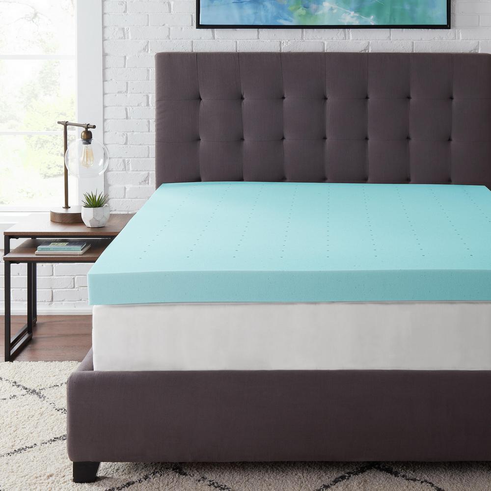 StyleWell 4 in. Gel Infused Memory Foam Twin Mattress Topper, Blue was $109.87 now $65.92 (40.0% off)