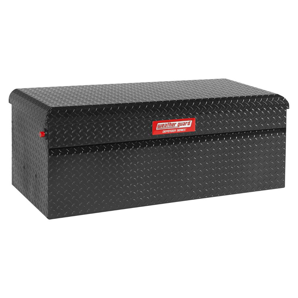 Weather Guard 50.25 in. Matte Black Aluminum Full Size Chest Truck Tool Box