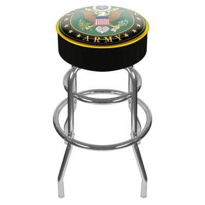 U.S. Army Symbol 31 in. Chrome Padded Swivel Bar Stool