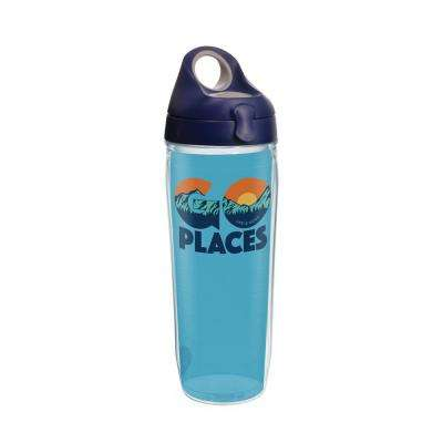 life is good go place 24 oz clear water bottle