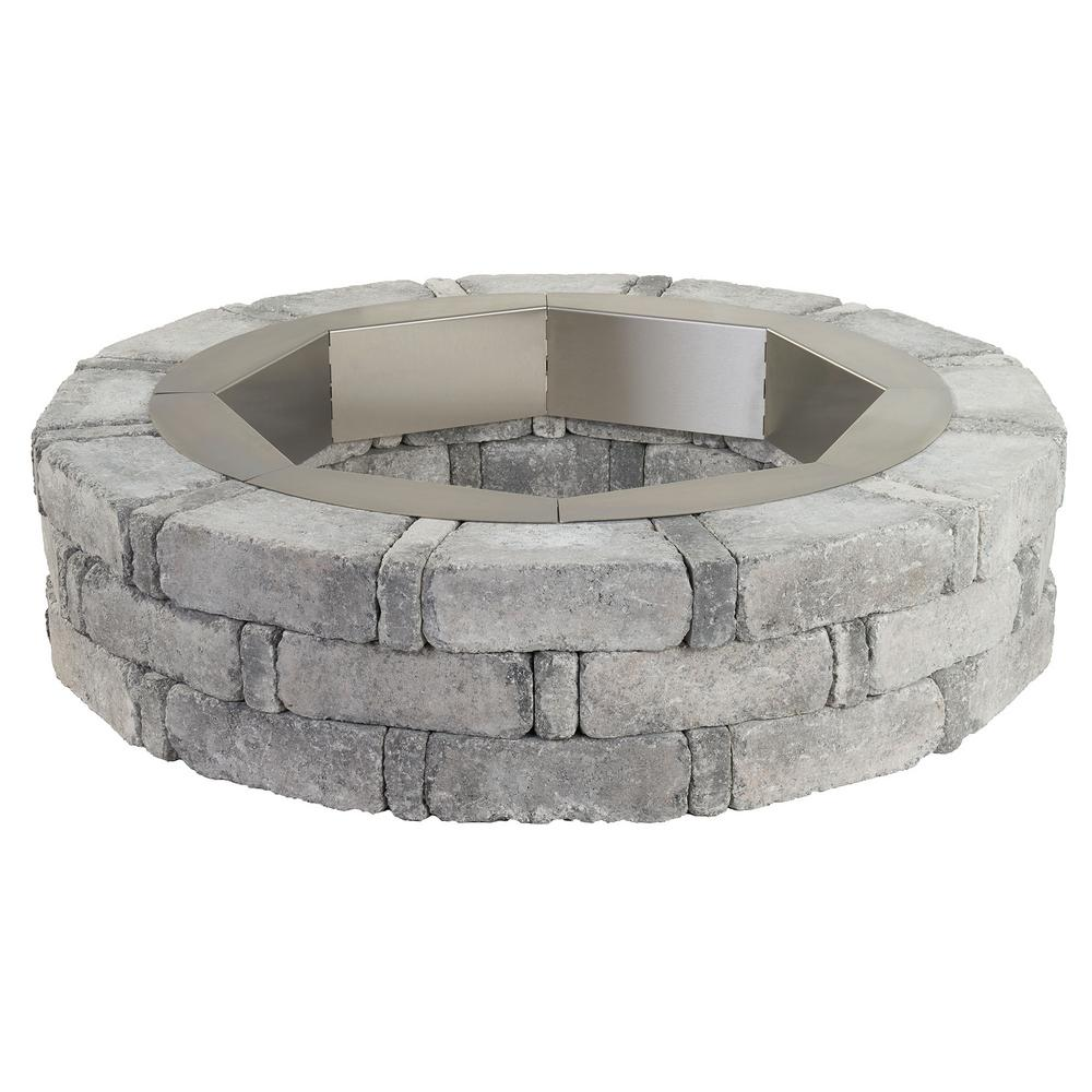 RumbleStone 46 in. x 10.5 in. Round Concrete Fire Pit Kit