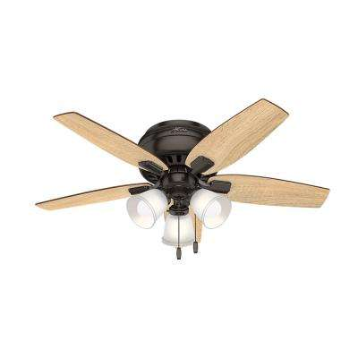 Hunter mahogany ceiling fans lighting the home depot led indoor premier bronze ceiling fan aloadofball Image collections