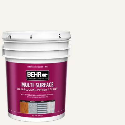 5 Gal. White Acrylic Interior/Exterior Multi-Surface Stain-Blocking Primer and Sealer